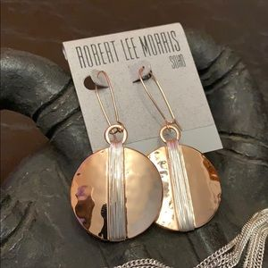 Robert Lee Morris Jewelry - Robert Lee Morris Two-Tone Disc Drop Earrings